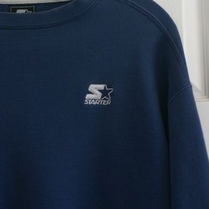 vintage Starter crewneck sweater embroidered logos